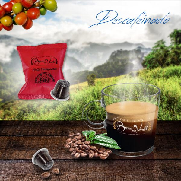 Taza de Café Descafeinado y cápsulas compatibles Nespresso Bocca della Verità