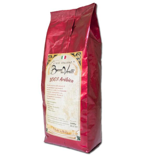 etiqueta trasera de café puro arábica de 1 kg