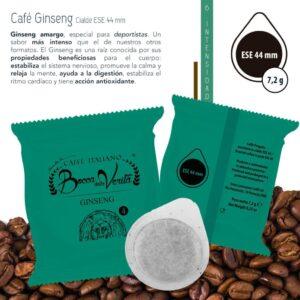 Descripcion Café Ginseng Amargo para ese 44 mm.