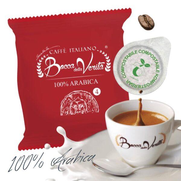 Cialda 100 arábica ESE 44 mm - Café italiano Bocca della Verità