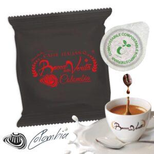 Cialda Colombia ESE 44 mm - Café italiano Bocca della Verità