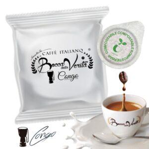 Cialda Congo ESE 44 mm - Café italiano Bocca della Verità
