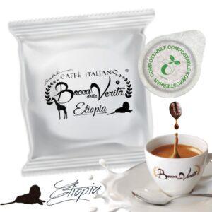 Cialda Etiopia ESE 44 mm - Café italiano Bocca della Verità