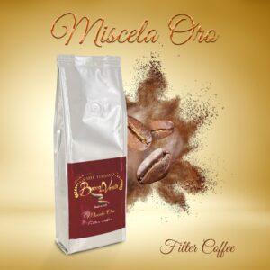 Diseño de Miscela Oro Filter Coffee 8 unidades 250 gr. de café molido