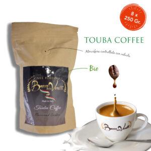 Touba Coffee Válvula paquete biodegradable